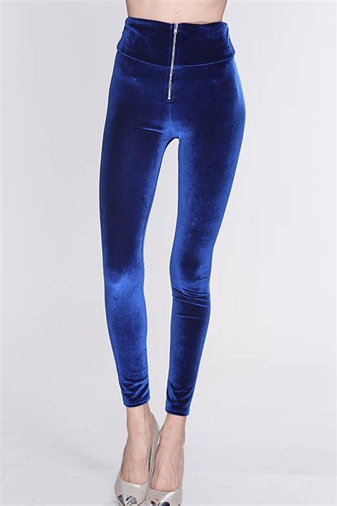 Highwaist Electric Blue Highwaist Punny royal blue velvet high waist amiclubwear