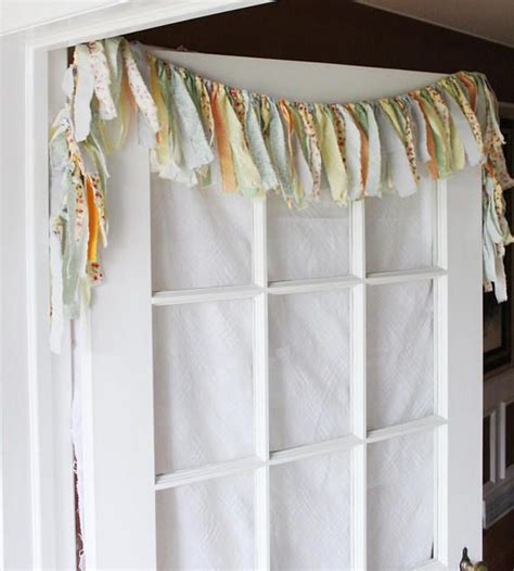 shabby chic curtain kitchen valance rag valance boho kitchen valence boho window curtains