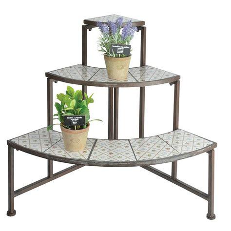 scaffali per piante scaffali tondi per piante in ghisa e ceramica botanicae
