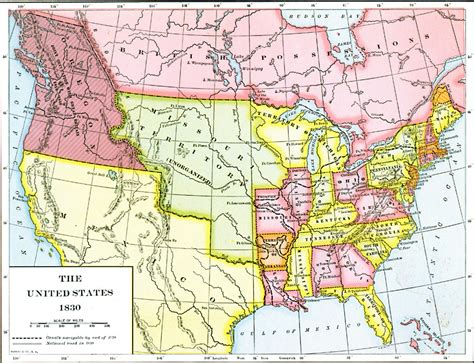 map of the united states in 1830 the united states