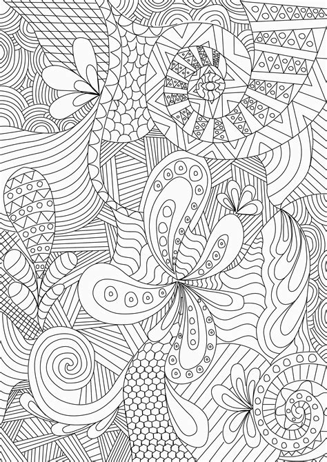 Free Coloring Pages Of Zentangle Zentangle Coloring Page