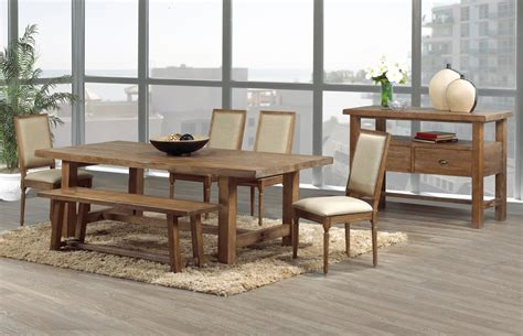 Rustic Modern Dining Room Tables | warm and rustic dining room ideas furniture home