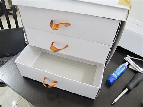 makeup organizer drawer using shoe boxes do it yourself