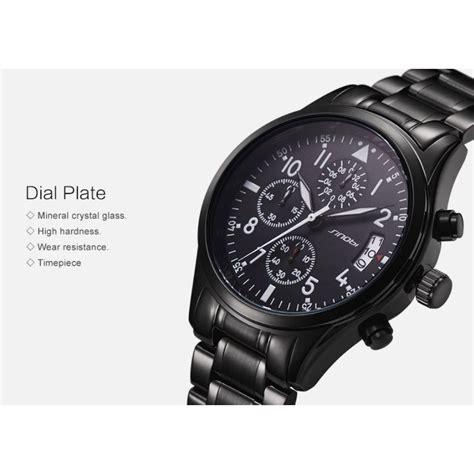 sinobi jam tangan pilot chrono pria 9639 black jakartanotebook