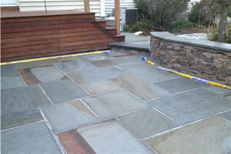 how to add impact to a patio with unique hardscaping
