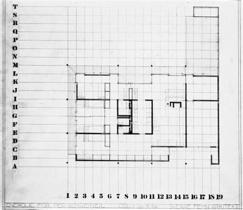 House Drawing Plan plans of architecture sverre fehn villa schreiner 1959