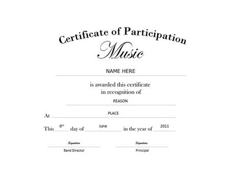 certificate of participation landscape free templates clip