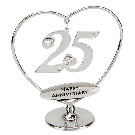 25th Anniversary Cake Topper   25th Silver Anniversary