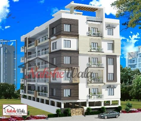 Single Floor House Plans India Multi Storey Residential Buildings 3d Front Elevation Design
