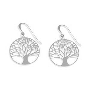 boucles d oreilles arbre de vie