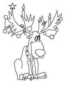 reindeer coloring pages reindeer coloring pages