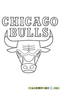 Chicago Bulls Logo Outline by Chicago Bulls Logo Coloring Page Coloring Breeds Picture