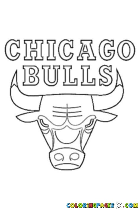 chicago bulls logo coloring page super coloring dog