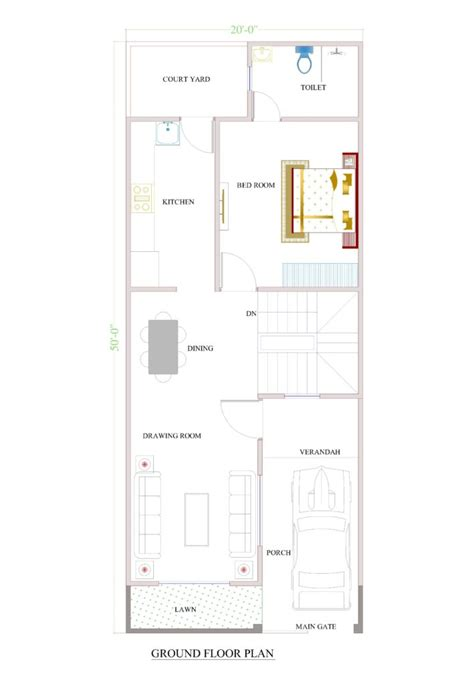 design house 20x50 20x50 house plan duplex house plan for a 30x40 floor