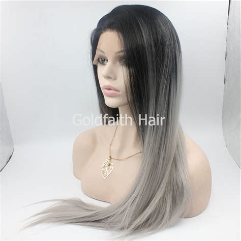 Black Hair Kitchen Grey S Anatomy Sf2 Cheap Gray Synthetic Lace Front Wig Glueless