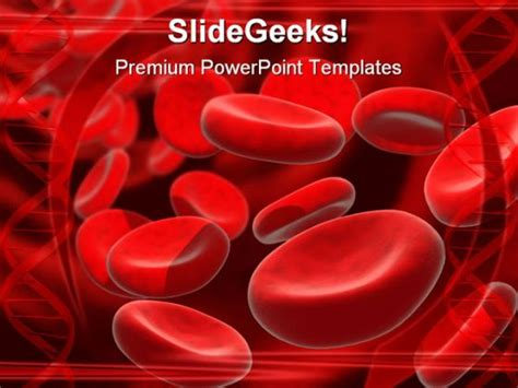 blood powerpoint template blood cells powerpoint template 0610