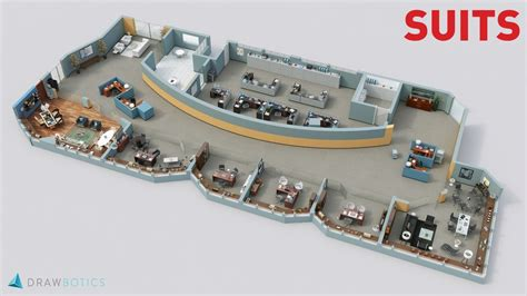 cool office floor plans cool 3d tv show floor plans of your favorite tv offices