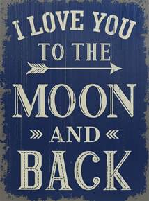 Home Decor Rustic by I Love You To The Moon And Back 19 Quot Sign Saveoncrafts