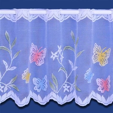 butterfly tab top curtains meadow butterfly cafe net curtain sold by the metre