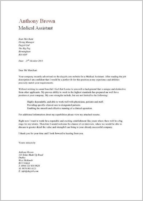 free cover letter exles for assistant free sle cover letter for assistant cover
