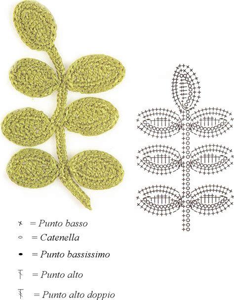 schemi di fiori all uncinetto intrecci incantati schema di foglie all uncinetto