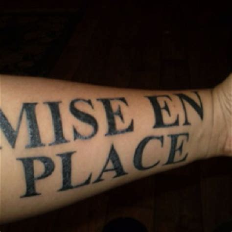 mise en place tattoo 17 best images about culinary tattoos on ink