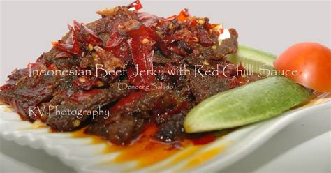 indonesian beef jerky  red chilli sauce dendeng