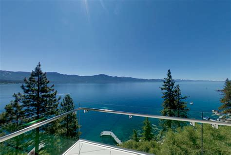 breathtaking lake view cliff house  lake tahoe