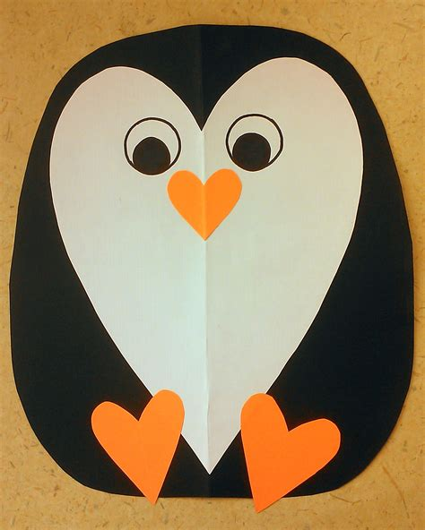 penguin crafts free preschool penguin crafts template