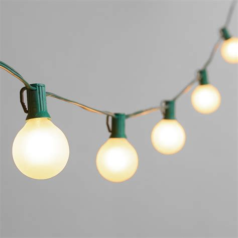 Frosted Bulb String Lights World Market Stringing Lights