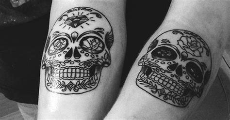 matching skull tattoos sugar skull designs skull meanings