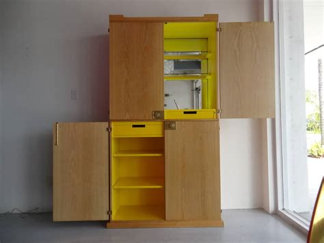 Oak Bar Cabinet Yellow And Cerused Oak Bar Cabinet By Tommi Parzinger At 1stdibs