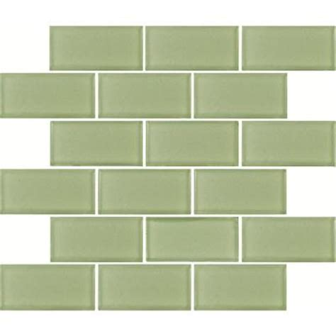 Home Depot Subway Tile by Ms International Mint Green Subway 12 In X 12 In X 8 Mm