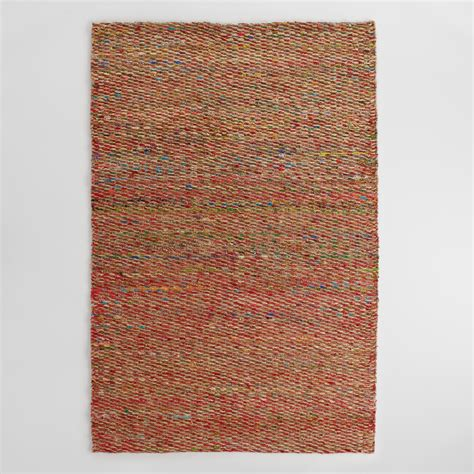silk area rug multicolor woven hemp and silk indori area rug world market