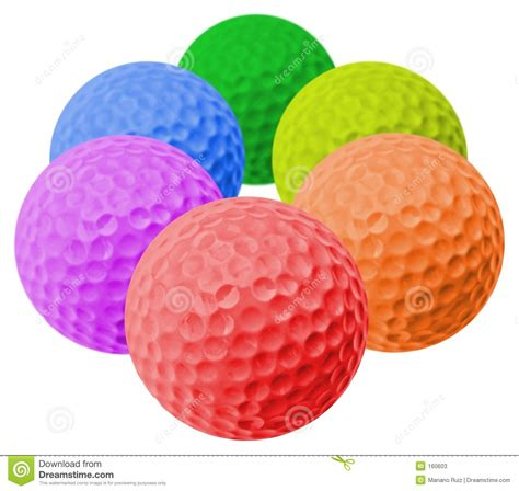 colored golf balls colored golf balls stock image image of colorful