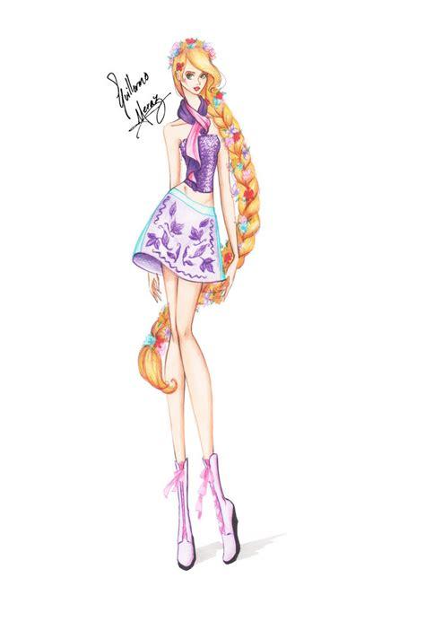fashion illustration rapunzel rapunzel from disney chickz by frozen winter prince on