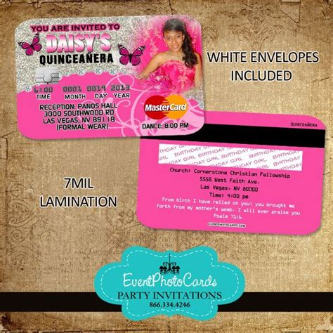 21 best images about credit card invitations on sweet sixteen wedding