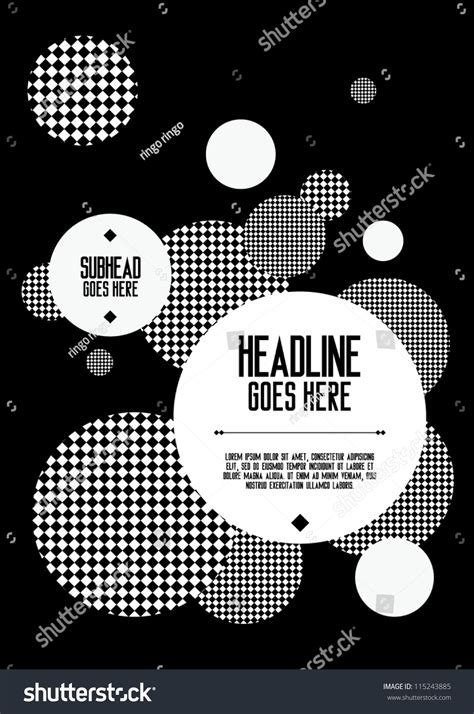 poster abstract layout print vector poster design template layout design