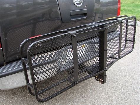 Truck Hitch Rack by Truck Trailer Receiver Hitch Mounted Cargo Carrier Rack
