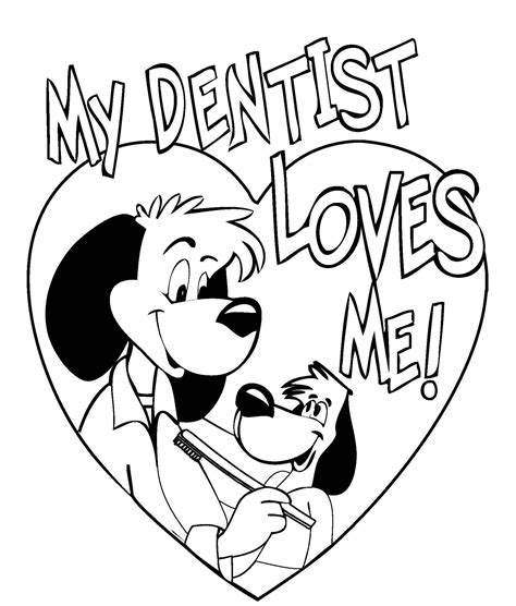 dentist coloring pages printable coloring pages