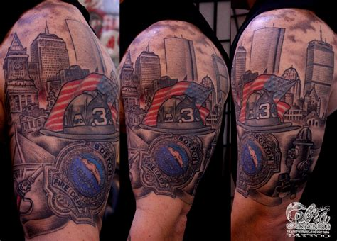 boston street tattoo boston skyline cobra custom