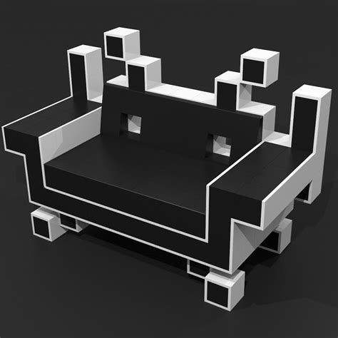 space invader couch 3d model of couch space invaders