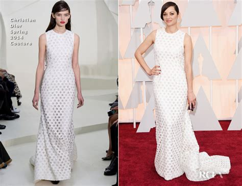 Marion Cotillards Oscar Dress From Runway To Carpet by Marion Cotillard In Christian Couture 2015 Oscars