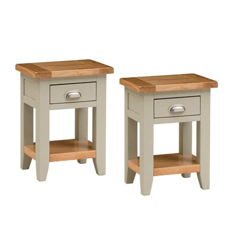 tiny bedside table caldecote french grey set of 2 small bedside tables c330