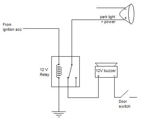 towbar wiring diagram with buzzer wiring free