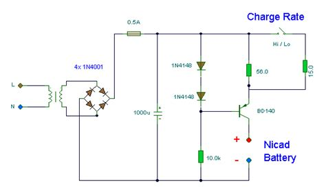 bd140 transistor as a switch charger nicad batere sederhana skema notebook
