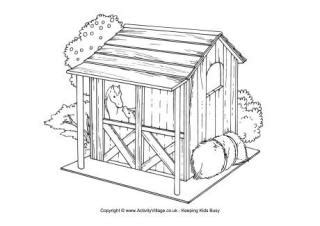garden shed coloring page farm colouring pages for kids