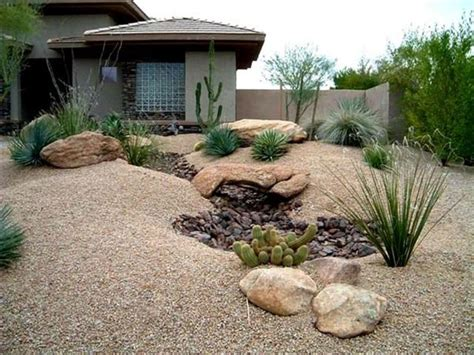 attractive front yard desert landscaping ideas bistrodre