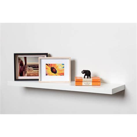 On Shelf Picture by Handy Shelf 900 X 240 X 38mm White Gloss Floating Shelf