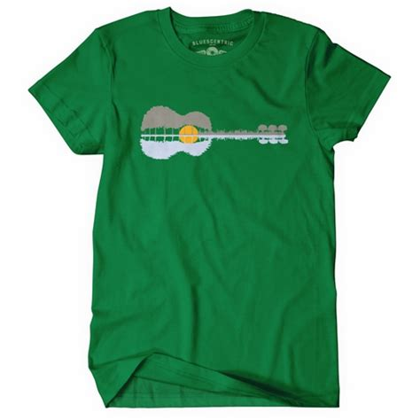 Kaos Distro Guitar guitar reflection t shirt classic heavy cotton